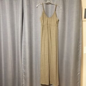 Petite tan maxi dress